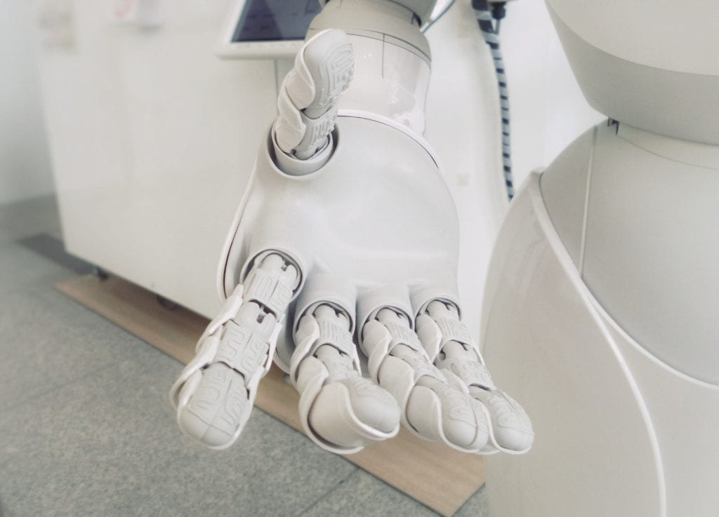 Image of robot hand reaching out